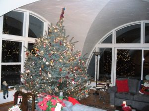 The Santa Claus Tree at the Conn's underground house.