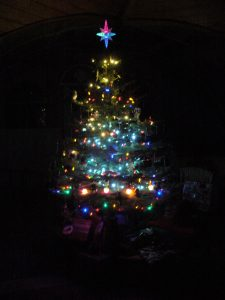 Our Christmas Tree with lights.
