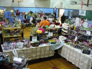 The Pacific Beach Chocolate festival in the school gymnasium.