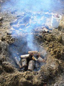 Making biochar in the backyard